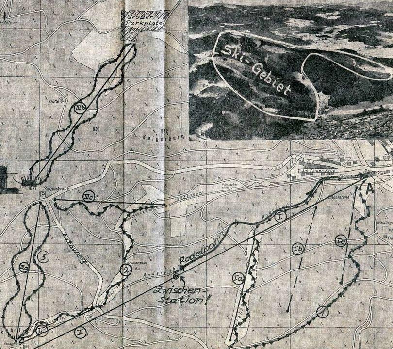 Der Plan des Ingenieurs Max Kirner für...edruckt 1967 in der Badischen Zeitung.  | Foto: Roland Weis