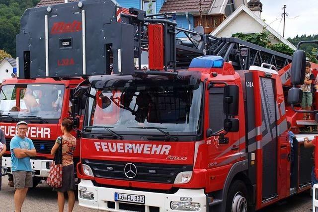 Die Lörracher Feuerwehr hatte am Wochenende viel zu tun