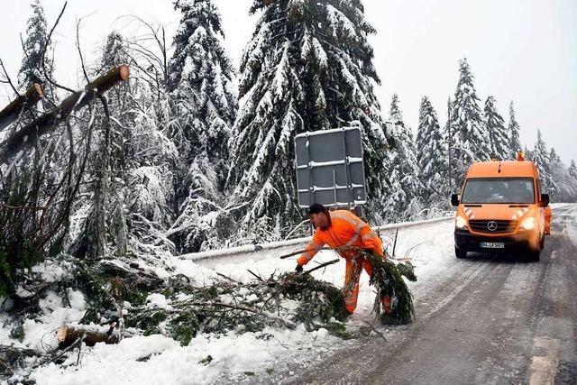 Schneefälle sorgten für Stress an der Schwarzwaldhochstraße