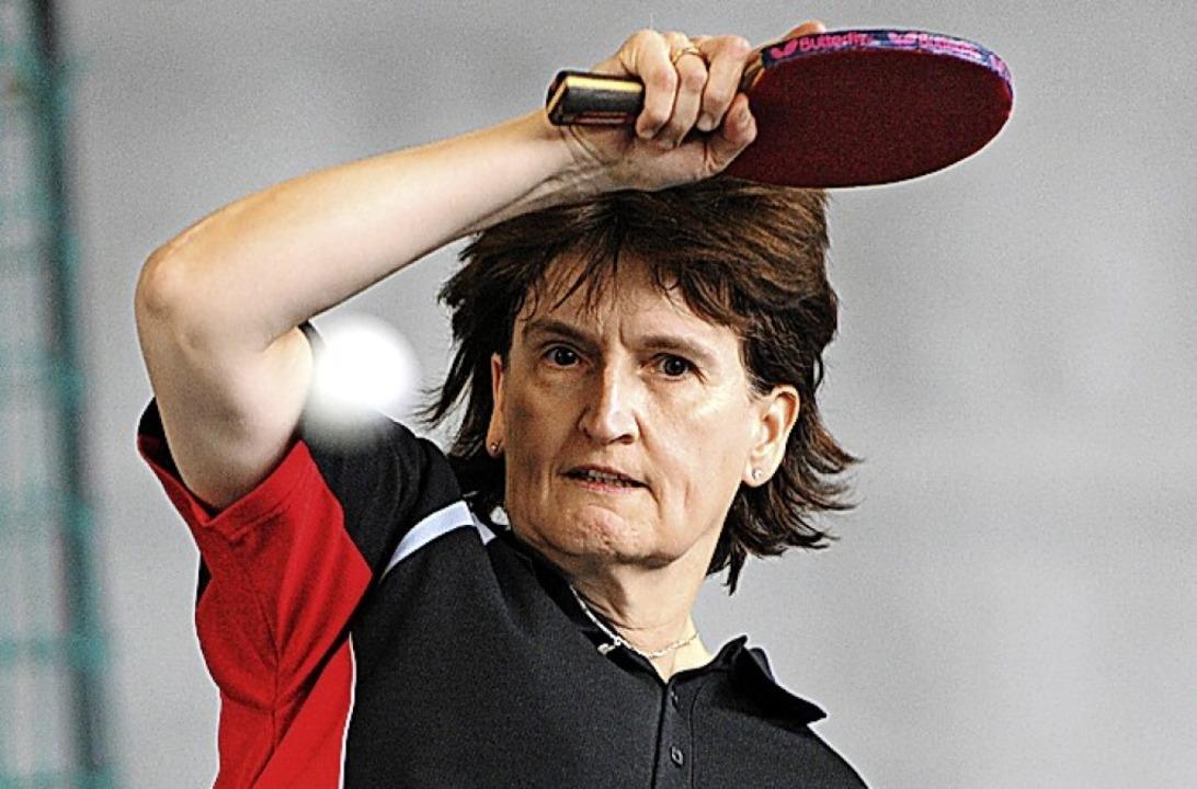 Heidi Isele punktete für Schluchsee im Doppel und Einzel.     Foto: Seeger