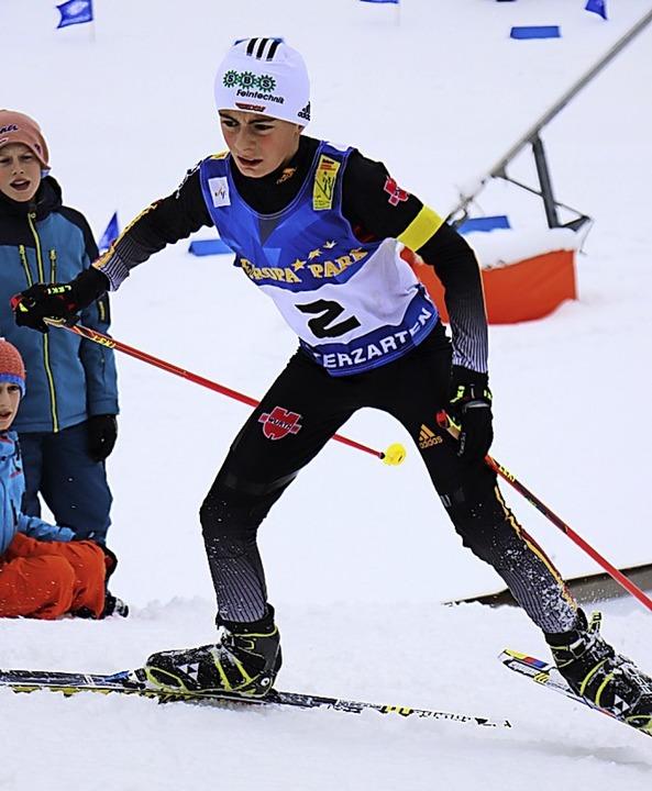 Maximilian Herr vom Skiteam Schonach-R...tzierungen bester Baden-Württemberger.
