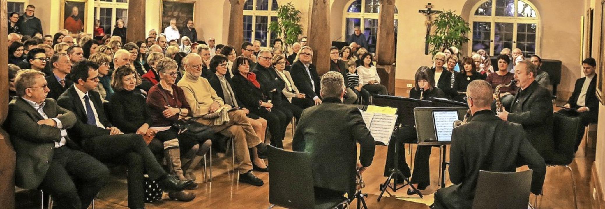 Das Raschèr Saxophone Quartett bei sei...zert bei den Musikfreunden Ettenheim    | Foto: Sandra Decoux-Kone