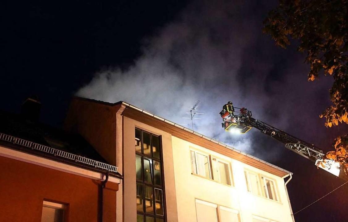 Im Juli musste die Feuerwehr eine Frau... in der Dinglinger Hauptstraße retten.  | Foto: Wolfgang Künstle