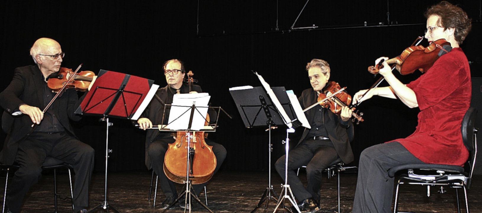 Antonio Pellegrini (Geige), Tobias Mos...er (Geige) beim Konzert in Denzlingen   | Foto: Hildegard Karig