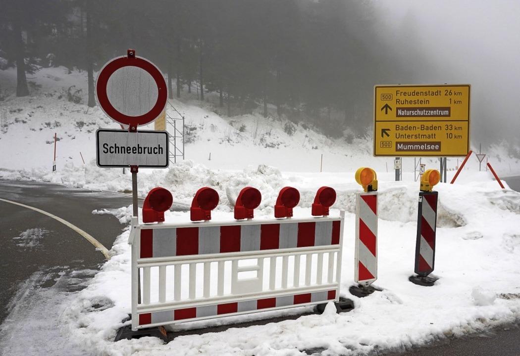 Schwarzwaldhochstraße Schnee