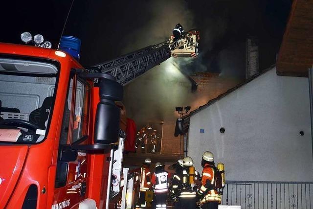 Wohnhaus in Sasbach ausgebrannt – Polizei ermittelt wegen Brandstiftung