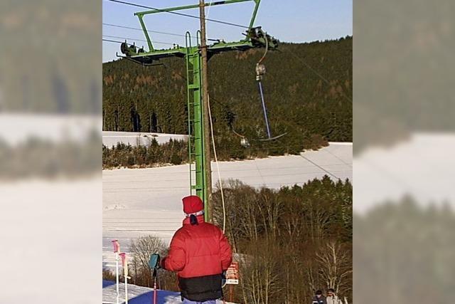 Am Skilift ist die Saison eröffnet