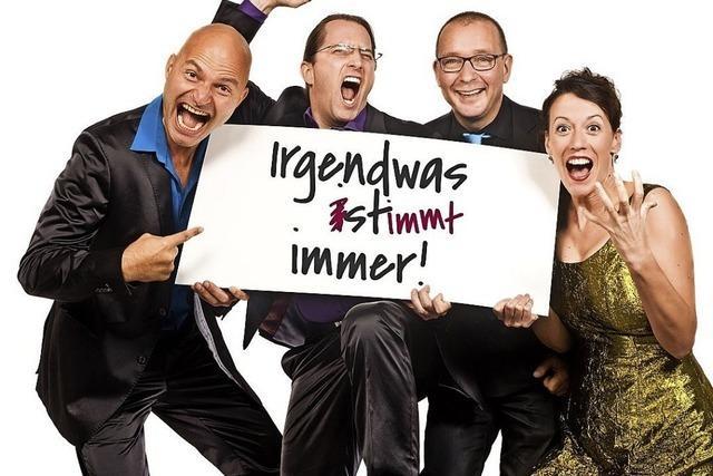 Musikalisches Kabarett mit Vocal Recall im Löwen in Ichenheim