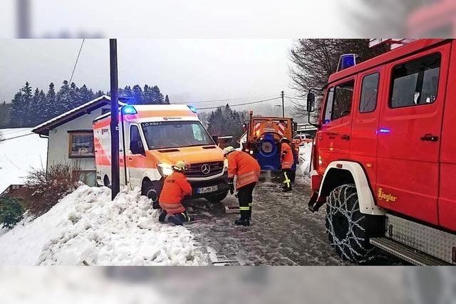 Gefährliche Situation in Bürchau