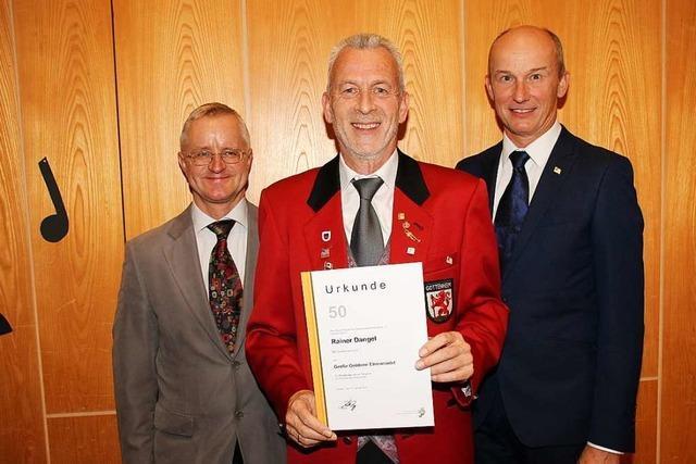 Rainer Dangel ist seit 50 Jahren Mitglied im Gottenheimer Musikverein