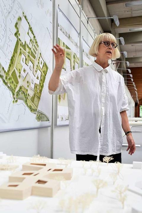 Jorunn Ragnarsdottir vom Gestaltungsbe...gerentwurf der Staudinger-Gesamtschule  | Foto: Thomas Kunz