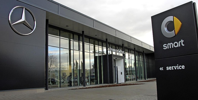 Das neue Autohaus an der Neudorfer Straße.   | Foto: Frey