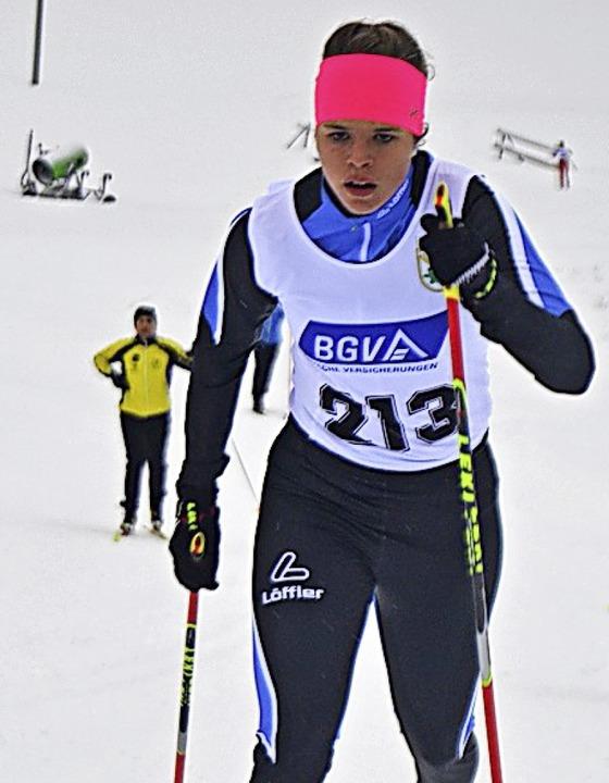 Amelie Wehrle vom SC Hinterzarten lief...n Wald auf die Ränge sieben und zehn.   | Foto: junkel