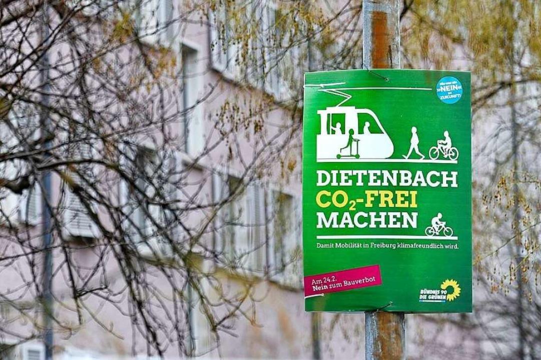 Seit einigen Tagen hängen die Plakate ...ls – hier ein Plakat der Grünen.  | Foto: Thomas Kunz