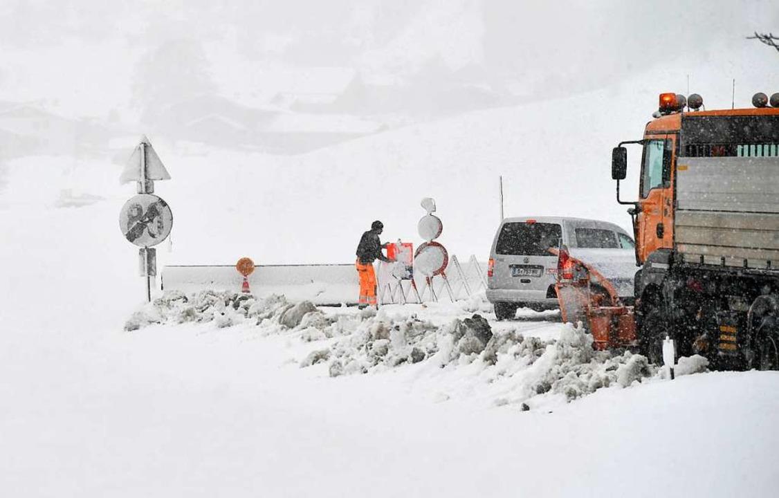 In den Alpen geht die Lawinengefahr zurück.    Foto: dpa