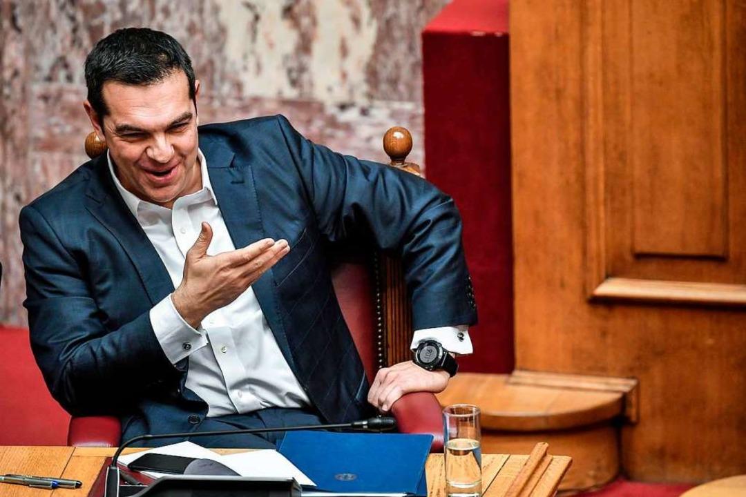 Tsipras übersteht das Misstrauensvotum.  | Foto: AFP