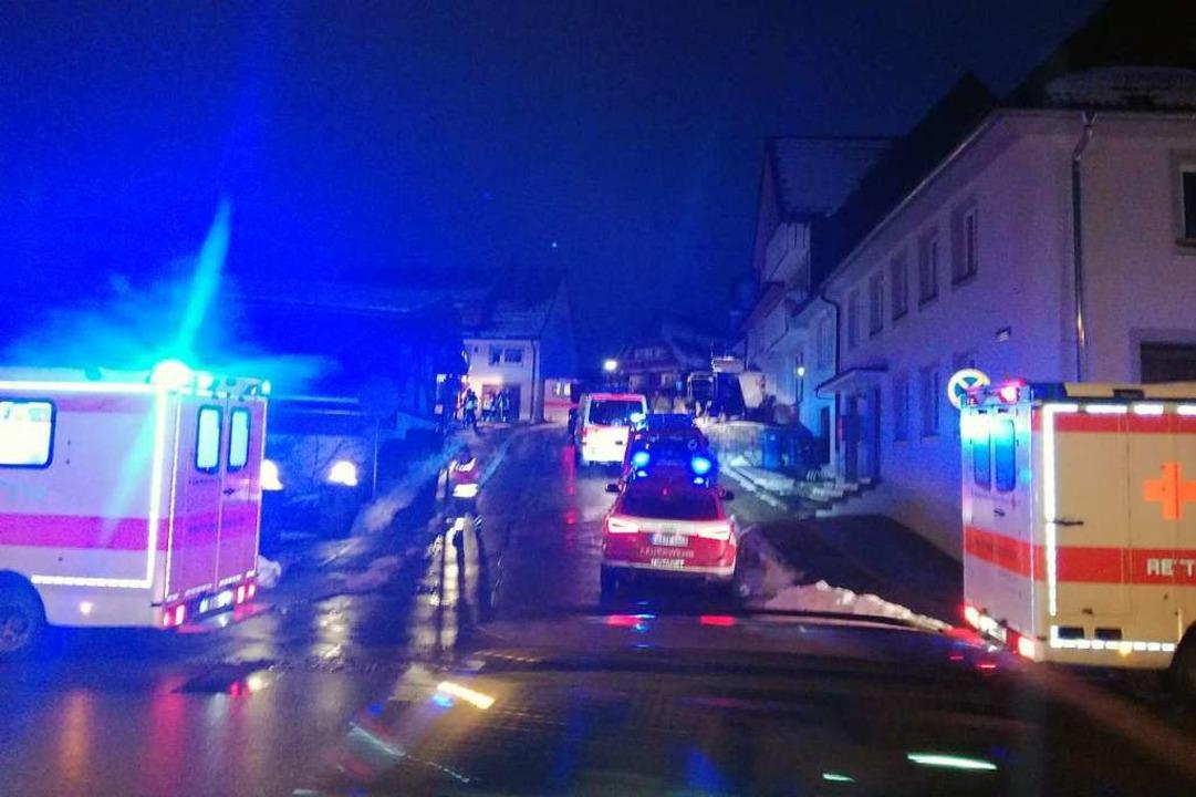 Großeinsatz in der Bonndorfer Kirchstraße  | Foto: bz