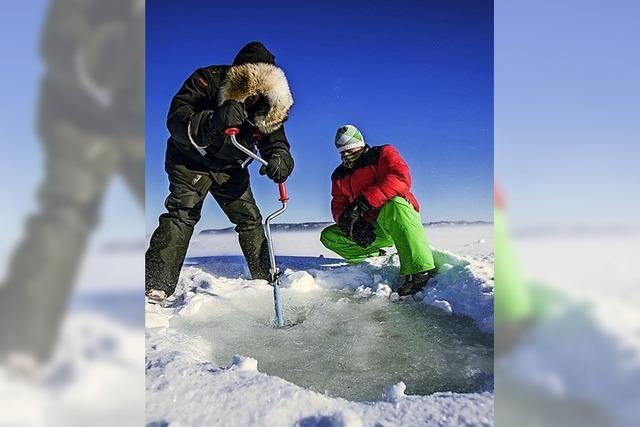 Fluchtpunkt: Eisfischen in Ontario