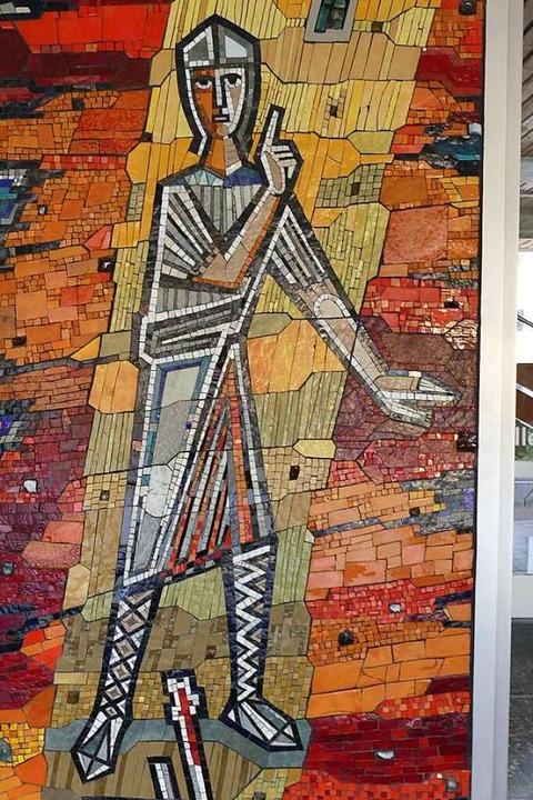 Sebastian als Mosaik des Kollegs St. Sebastian  | Foto: Erik Kunz