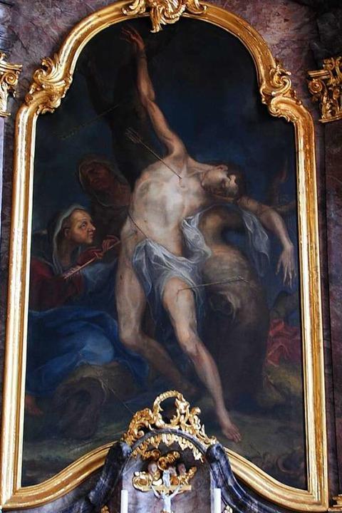 Altarbild des heiligen Sebastian in Kirchhofen  | Foto: Manfred Frietsch