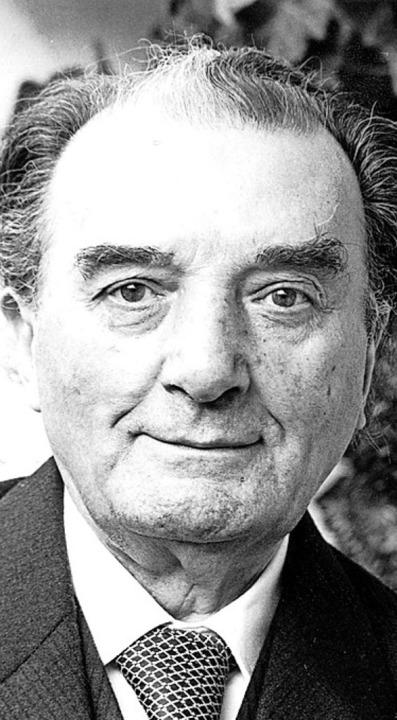 Franz Büchner, Portrait von 1979   | Foto: Universität Freiburg
