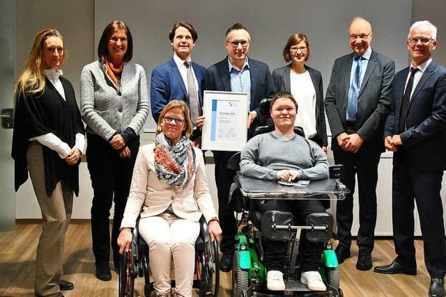 Ebringer Firma als behindertenfreundlicher Betrieb ausgezeichnet