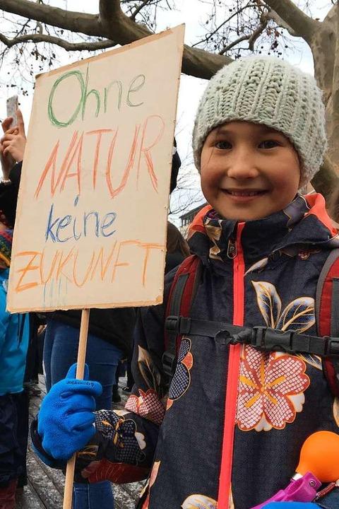 Kayla, 9 Jahre alt, aus Freiburgs Stadtteil Vauban, ist die Natur superwichtig.  | Foto: Simone Höhl