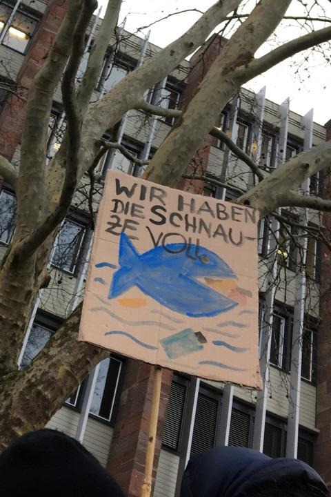 Beim Streik der Schüler  | Foto: Simone Höhl