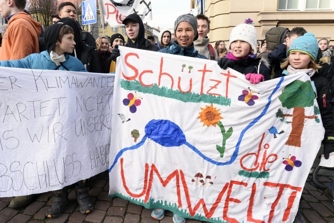 Das Thema Umweltschutz beschäftigt junge Schülerinnen und Schüler.  | Foto: Thomas Kunz