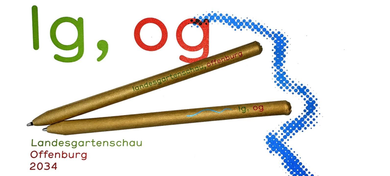 Das neue Logo auf Postkarten und Kugelschreibern  | Foto: Seller