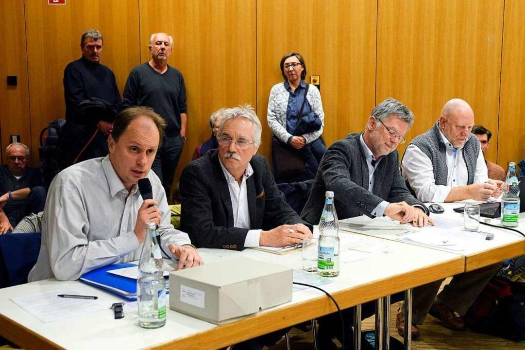 Von links nach recht: Manfred Kröber, ... BürgerInnenVerein Rieselfeld BIV e.V.  | Foto: Thomas Kunz