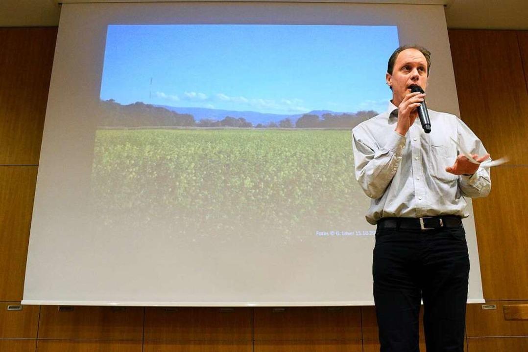 Manfred Kröber, Vertrauensperson der A...#8220; argumentierte gegen Dietenbach.  | Foto: Thomas Kunz