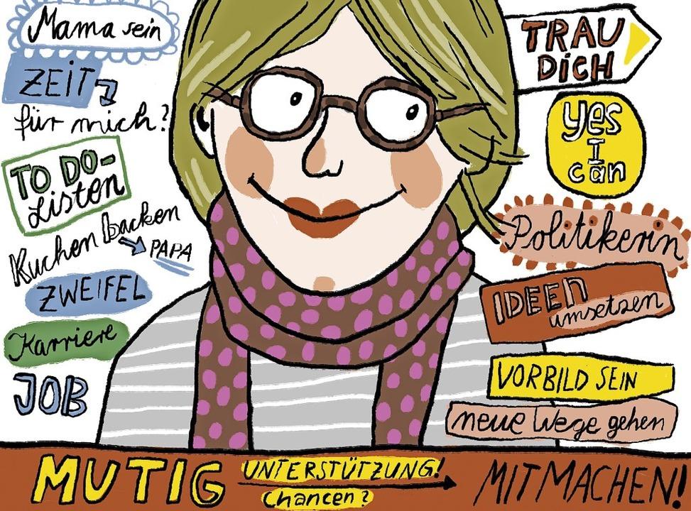 Frauen und Politik – eine Herausforderung.   | Foto: Grafik: Steph Burlefinger