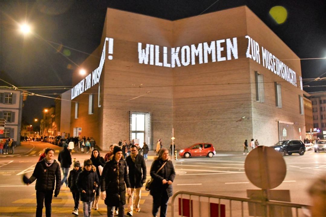 Die Basler Museumsnacht 2019 hat tausende Besucher angelockt.  | Foto: Barbara Ruda