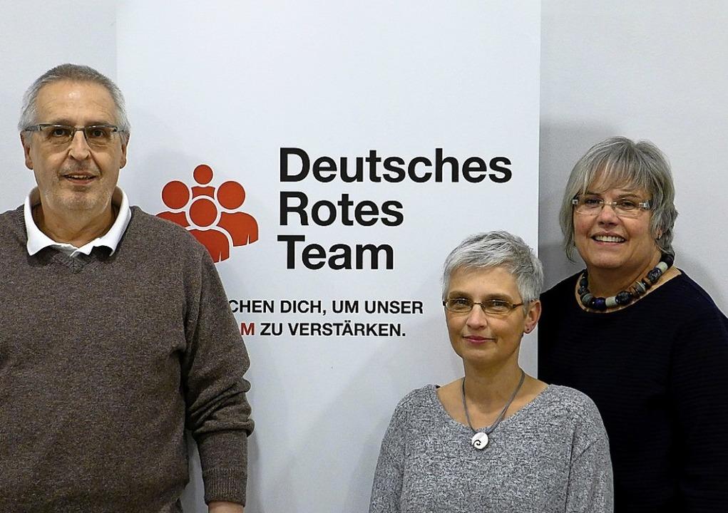 Peter Zimmermann, Karin Starosta, Bett...en Kreuzes im  Landkreis Emmendingen.     Foto:  usk