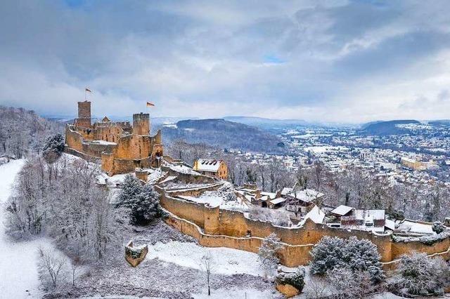 Burg Rötteln im Schnee