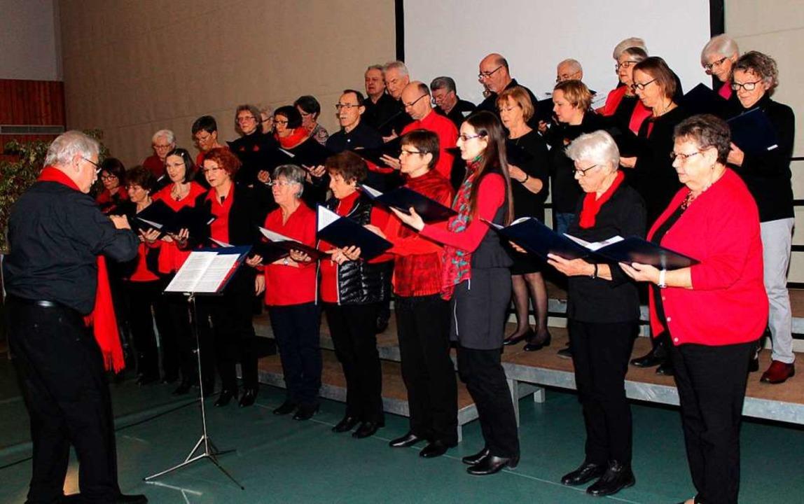 Der Sängerbund unter Erhard Zeh umrahmte den ersten der beiden TuS-Feier-Abende  | Foto: Reinhard Cremer