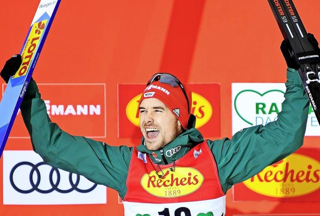 Einfach Weltklasse: Fabian Rießle, Nor...n Jura Rang zwei in der Gesamtwertung.  | Foto: dpa