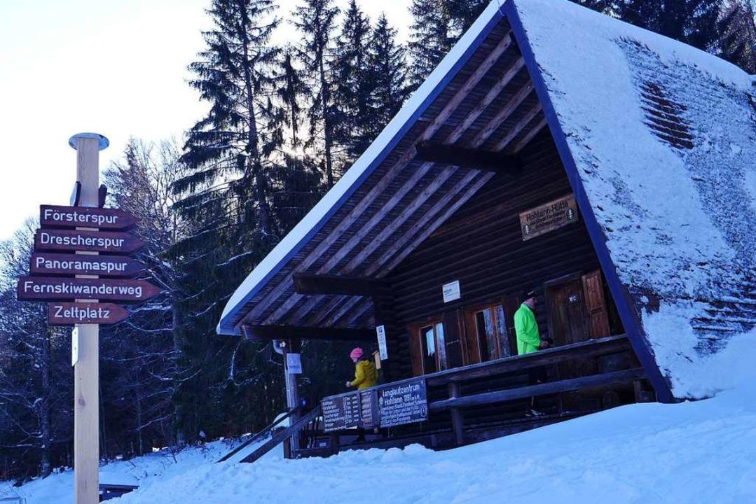 In der Hütte im Langlaufzentrum Hohtann kann man einkehren.  | Foto: Martina David-Wenk