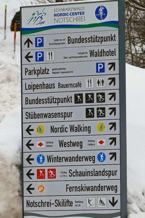 Auf dem Notschrei gibt es  eine perfekte Infrastruktur für Langläufer.  | Foto: Martina David-Wenk