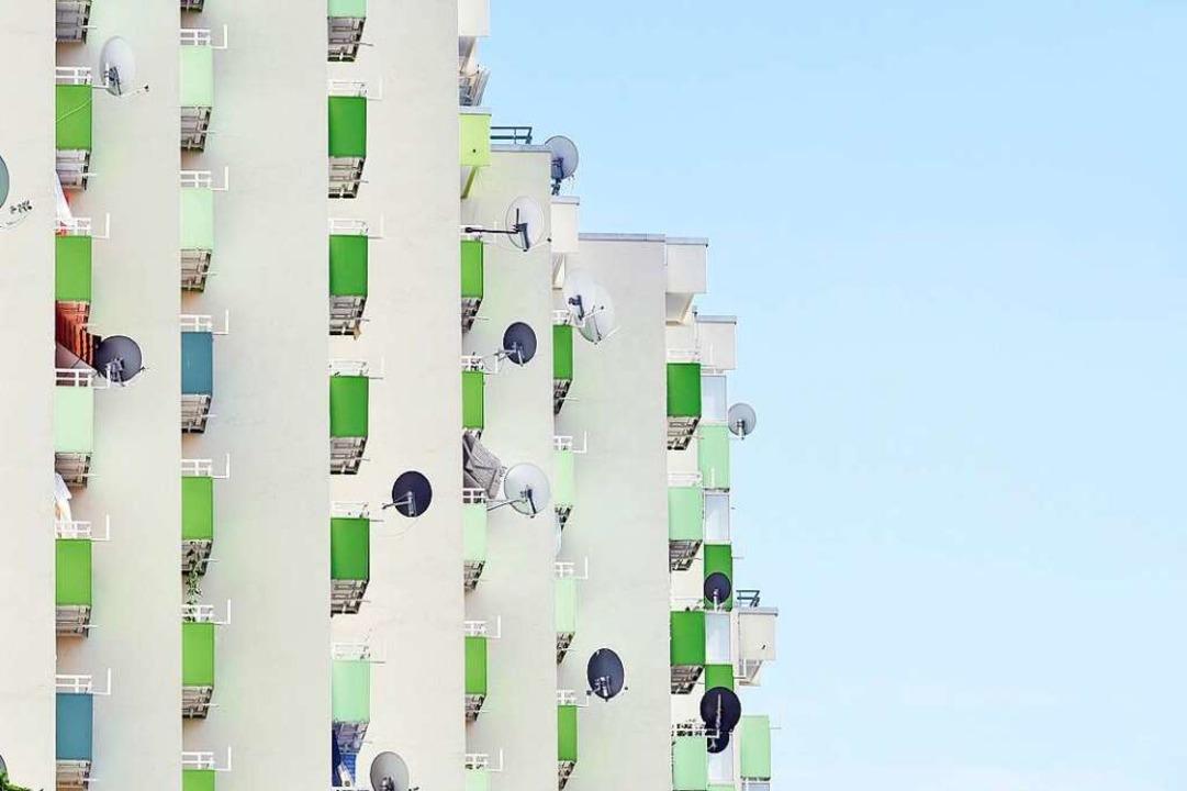Bei Hochhäusern mit mehr als zehn Stoc...inen Abschlag von der Vergleichsmiete.  | Foto: Thomas Kunz