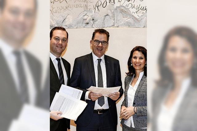 Unterschriften für Minister