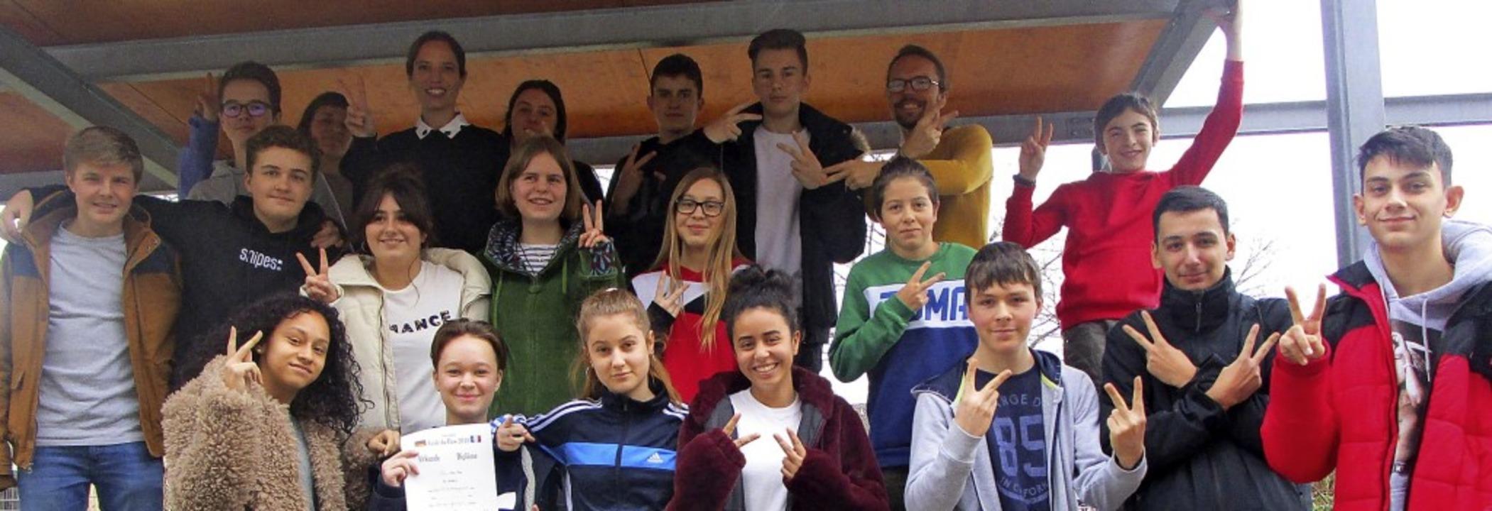 "Schüler der 9b am Oberrheingymnasium f... Projekt ""Ecole du Flow"".   | Foto: Röttinger"