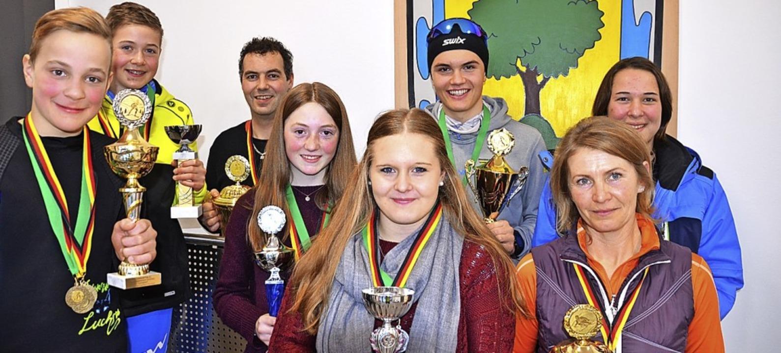 Die Vereinsmeister des Ski-Clubs Lange...us Fehrenbach (Vereinsmeister Alpin).   | Foto: Markus Straub