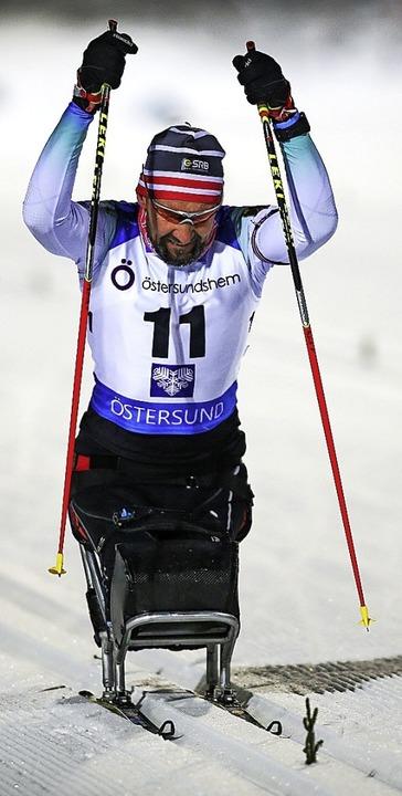 Patrik Fogarasi vom SV Kirchzarten hat... Schießen mit der Kälte zu kämpfen.     | Foto: NPC Schweden