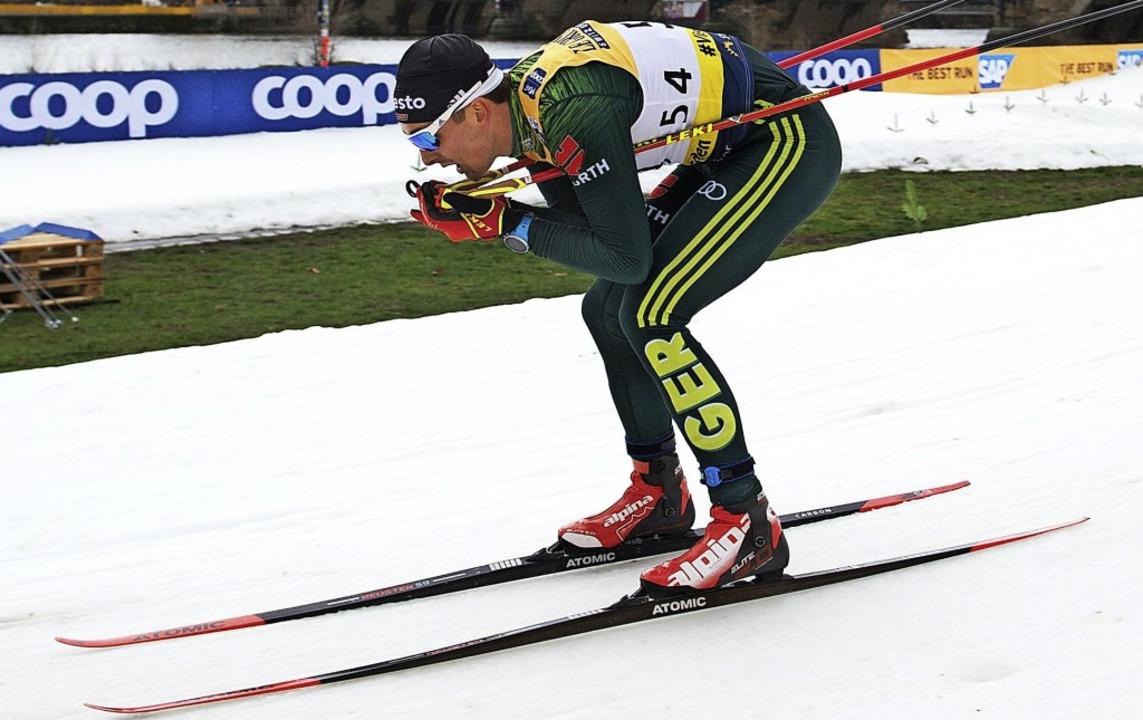 Schnell, aber nicht rasant  genug: Jan...G Schluchsee, Sprint-Zehnter in Lahti     Foto: dpa