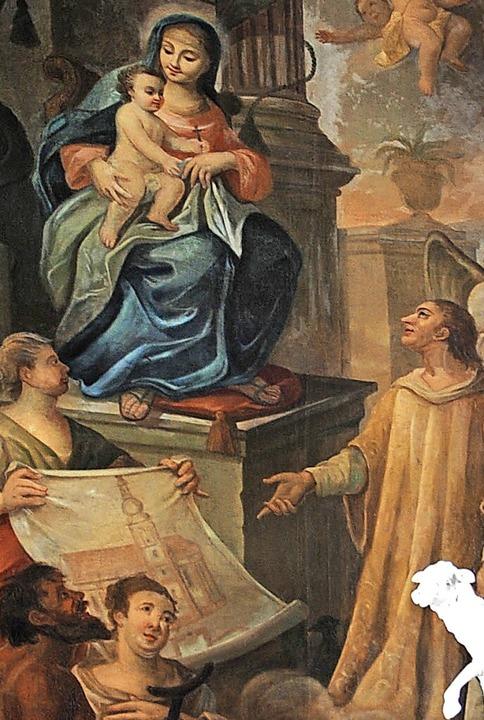 Der heilige Vincentius blickt zu Maria... ihm geweihten Kirche in Neuershausen.    Foto: Manfred Frietsch