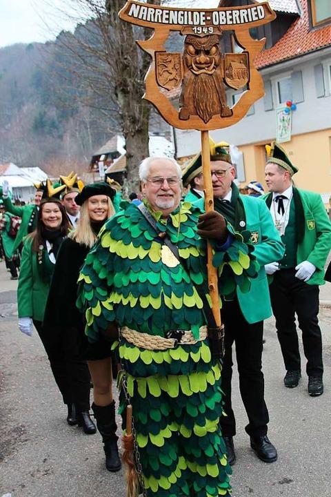 Die Narrengilde Oberried feiert 70. Ge...darunter die Münstertäler Votzelzunft.    Foto: Mario Schöneberg