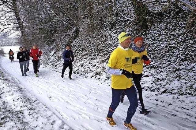 60 Kilometer auf Schnee
