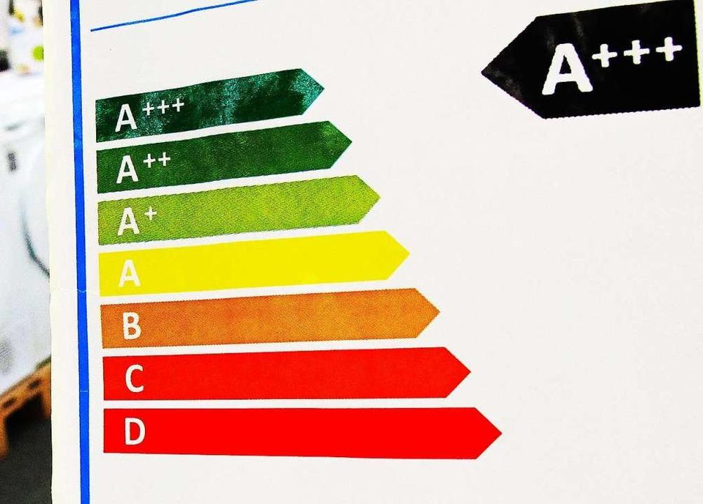 Muss auf Staubsauger vorerst nicht meh...t werden: das Energieeffizienz-Label.   | Foto: DPA